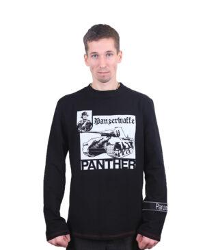 Мужской лонгслив (футболка с длинным рукавом) с танком Пантера