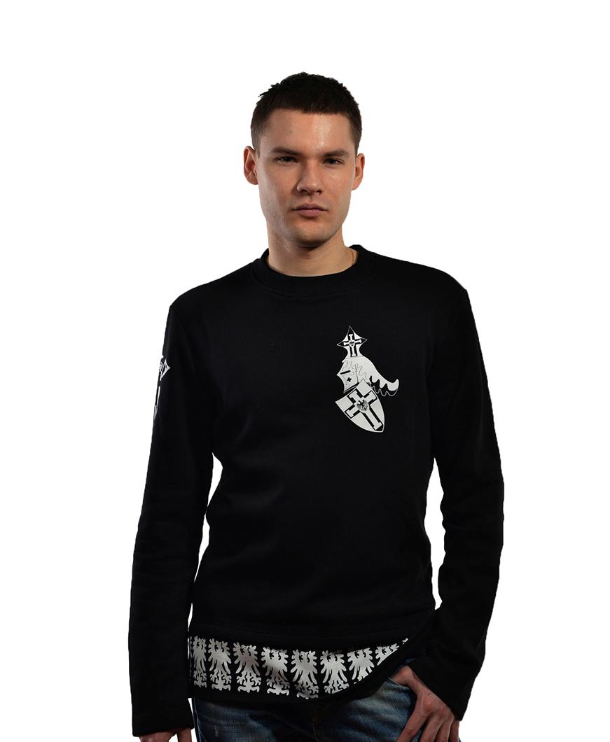 Стильная мужская толстовка с рыцарской символикой тевтонского ордена
